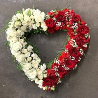 gallery red and white heart